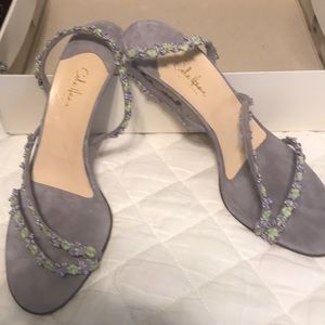 Cole Haan lavender suede sandals